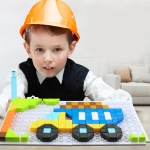 MoFun 6606-3 DIY Van Building Block Puzzle Series Children Puzzle Toys