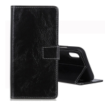 Retro Crazy Horse Texture Horizontal Flip Leather Case for Huawei Y5 (2019), with Holder & Card Slots & Wallet & Photo Frame (Black)