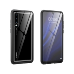 Arc Series Metal Frame + Tempered Glass Protective Case for Huawei P30(Black)