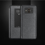Top-grain Horizontal Flip Leather Case for Huawei Mate 10, with Call Answering Function & Sleep / Wake-up (Black)
