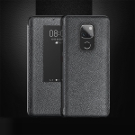 Top-grain Horizontal Flip Leather Case for Huawei Mate 20, with Call Answering Function & Sleep / Wake-up (Black)