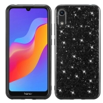 Glitter Powder Shockproof TPU Case for Huawei Honor Play 8A (Black)