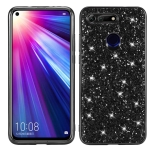 Glitter Powder Shockproof TPU Case for Huawei Honor View 20 (Black)