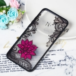 Small Lotus Pattern Embossed Lace + PC Case for Huawei Y9 (2019) / Enjoy 9 Plus