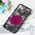 Big Lotus Pattern Embossed Lace + PC Case for Huawei Y9 (2019) / Enjoy 9 Plus