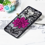 Big Lotus Pattern Embossed Lace + PC Case for Huawei Mate 20