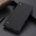 Copper Buckle Retro Crazy Horse Texture Horizontal Flip Leather Case for Huawei Honor 8C, with Holder & Card Slots & Wallet (Black)