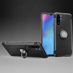 Magnetic 360 Degree Rotation Ring Holder Armor Protective Case for Huawei P30 Pro (Black)