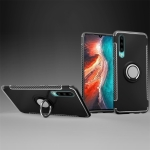 Magnetic 360 Degree Rotation Ring Holder Armor Protective Case for Huawei P30 (Black)