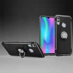 Magnetic 360 Degree Rotation Ring Holder Armor Protective Case for Huawei Honor 10 Lite (Black)