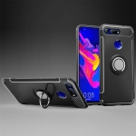 Magnetic 360 Degree Rotation Ring Holder Armor Protective Case for Huawei Honor View 20 (Black)