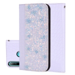 Crocodile Texture Glitter Powder Horizontal Flip Leather Case for Huawei P30 Lite, with Card Slots & Holder (White)