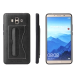 Fierre Shann Full Coverage Protective Leather Case for Huawei Mate 10,  with Holder & Card Slot (Black)