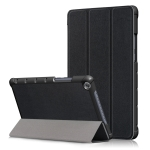 Custer Texture Horizontal Flip Leather Case for Huawei MediaPad M5 Lite, with Three-folding Holder (Black)