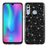 Glittery Powder Shockproof TPU Case for Huawei  Honor 10 Lite(Black)