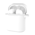 Wireless Earphones Charging Box Silicone Protective Case for Huawei Honor FlyPods / FlyPod Pro / FreeBuds2 / FreeBuds2 Pro (White)