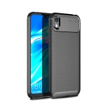 Carbon Fiber Texture Shockproof TPU Case for Huawei Honor 8S (Black)