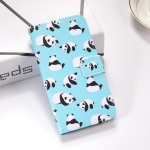 Pandas Pattern Colored Drawing Horizontal Flip Leather Case for Huawei Nova 4, with Holder & Card Slots & Wallet & Lanyard