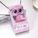 Cute Owl Pattern Colored Drawing Horizontal Flip Leather Case for Huawei Nova 4, with Holder & Card Slots & Wallet & Lanyard