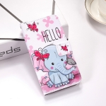 Butterfly Elephant Pattern Colored Drawing Horizontal Flip Leather Case for Huawei P30, with Holder & Card Slots & Wallet & Lanyard