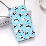 Pandas Pattern Colored Drawing Horizontal Flip Leather Case for Huawei P30, with Holder & Card Slots & Wallet & Lanyard