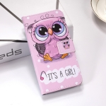Cute Owl Pattern Colored Drawing Horizontal Flip Leather Case for Huawei P30, with Holder & Card Slots & Wallet & Lanyard