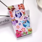 Colorful Owl Pattern Colored Drawing Horizontal Flip Leather Case for Huawei P30, with Holder & Card Slots & Wallet & Lanyard