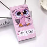 Cute Owl Pattern Colored Drawing Horizontal Flip Leather Case for Huawei P30 Lite, with Holder & Card Slots & Wallet & Lanyard