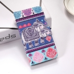 Elephant Pattern Colored Drawing Horizontal Flip Leather Case for Huawei P30 Pro, with Holder & Card Slots & Wallet & Lanyard