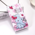 Butterfly Elephant Pattern Colored Drawing Horizontal Flip Leather Case for Huawei P Smart (2019), with Holder & Card Slots & Wallet & Lanyard
