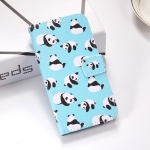 Pandas Pattern Colored Drawing Horizontal Flip Leather Case for Huawei P Smart (2019), with Holder & Card Slots & Wallet & Lanyard