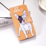 Dog Pattern Colored Drawing Horizontal Flip Leather Case for Huawei P Smart (2019), with Holder & Card Slots & Wallet & Lanyard