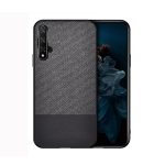 Shockproof Splicing PU + Cloth Protective Case for Huawei Honor View 20 (Black)