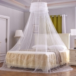 Household Circular Suspended Ceiling Mosquito Net Princess Tents(White)