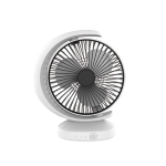 Portable Mini Recirculating Wind Mute USB Desktop Fan with 3 Speed Control (White)
