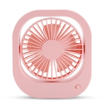Portable Mini 360 Degree Rotation USB Desktop Fan with 2 Speed Control (Pink)
