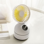 Qiwan Multi-function Portable Mini Spray Moisturizing Humidification USB Desktop Fan with 3 Speed Control (White)