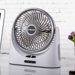 D75 4W USB Charging 6 inch Fan Blade Household Air Circulation Fan,  with 3 Speed Control & Power Output Function(Silver)