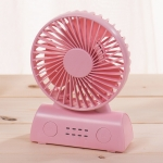 OCUBE D402 4W USB Charging Portable Mobile Fan,  with 4 Speed Control(Pink)