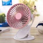 OCUBE D601 4W USB Charging Portable Desktop Fan Clip Fan,  with 3 Speed Control (Pink)