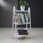 Solid Wood Folding Multi-layer Flower Plate Storage Shelves Shoe Rack, Size: 90x50x30cm (White)