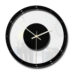 TM011 B Round Wooden Dial Transparent Acrylic Mute Wall Clock