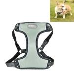 Tuffhound 1619 Adjustable Dog Harness Lead Leash Collar Belt,Size:M, 2x(50-73)cm(Grey)