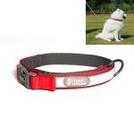 1427 Nylon + Submersible + Reflector Bar Adjustable Dog Collar, Adjustable Range: 2x(38-51)cm,Size:M (Red)
