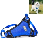 Tuffhound 1639 Dog Harness Lead Leash Collar Belt,Size:S, 1.5x(33-52;42-54)cm (Blue)