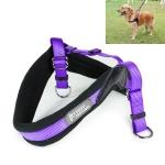 1421A Adjustable Dog Harness Lead Leash Collar Belt, Adjustable Range: (44-51)+(47-55)cm,Size:S (Purple)