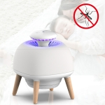 4W Ultraviolet Mosquito Trap Lamp USB Electric Pest Repeller Intelligent Light Control (White)