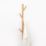 Creative Tree-shaped Solid Wood Floor Hatstand Clothes Hanging Rack,Size: 75x3cm, Beech