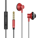 Lenyes LF12 In Ear 3.5mm Interface Wired Earphones with Mic (Red)
