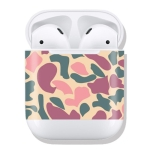 Pink Camouflage Pattern Wireless Earphones Charging Box Protective Film Sticker for Apple AirPods